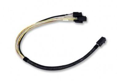 LSI LSI00411 mSAS 12Gbps miniSAS Kabel SFF-8643 auf 4x SATA 1,0 m mini SAS